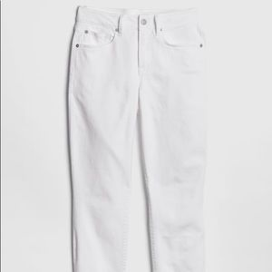 GAP 1969 Mid-Rise White Skinny Jeans